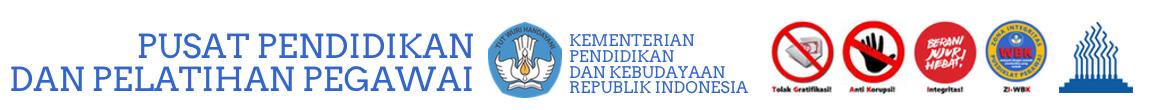 Logo for Pusdiklat Pegawai Kemendikbud